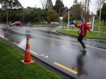 Gerry at 1km to go.