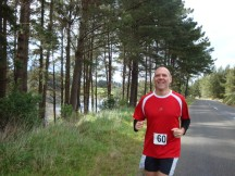 Gerry, still a happy chappy screaming up the hill in the first kilometre.