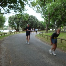 Gerry, nearing the end of the park. The guy in front was doing the 42km.