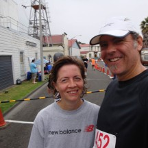 Happy chappies at the finish! After a glass of rehydrate, courtesy of the organisers.