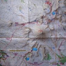 Tongariro Northern Circuit route on the topographical map (1:60 000).