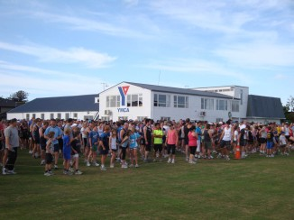 The start at the YMCA with 1500+ entrants.