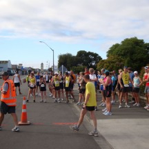 At the start (me right at the back somewhere) with 46 other participants.