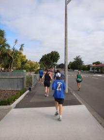 The first few kilometres through the streets of Feilding.