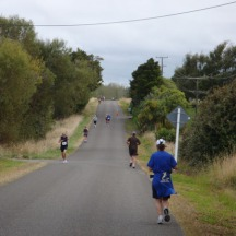 The small out and back section, proving there were actually some other runners.