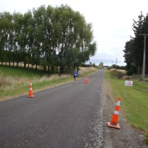 Gerry at the turn (between the 12 and 13km mark).