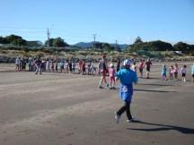 The start of the kiddies 1km dash.