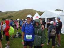 At the start, me sporting full wet weather gear ;-).
