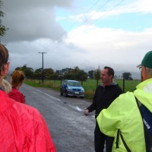Bede Gilmore, the school principal, explaining the course before setting us off.