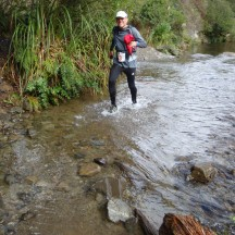 One of many river crossings. Forget about dry feet!