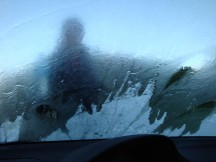 Adding water to the windscreen didn't work - it just froze instantly!