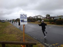 A hop, skip and jump at the 5km-to-go mark.