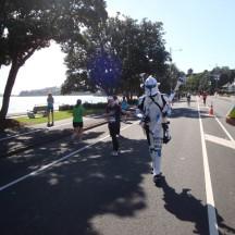 A Star Wars storm trooper.