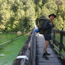 Gerry crossing the Waiau River at the start.