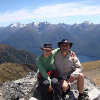 The highest point en route - Mt Luxmore.