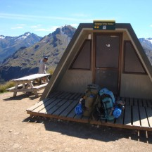 One of the two shelters on top of the mountain. This one being Hanging Valley Shelter.