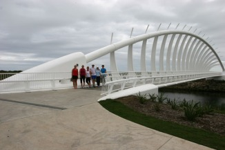 The Te Rewa Rewa bridge that forms part of the extension of the walkway to Bell Block.