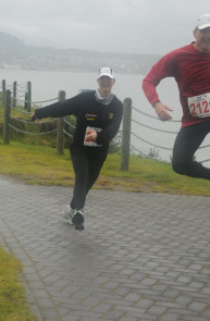 Photograph by Super Sport Images. Some wind! Blowing me sideways and Gerry out of the picture!