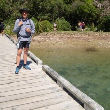 Ship Cove jetty, ready for the hike ahead.