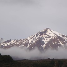 Mt Ruapehu showing itself for the first time on our trek.