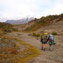 Rangipo desert is in the rain shadow on the east of Mt Ruapehu, and therefore dryer than most areas in Tongariro National Park.