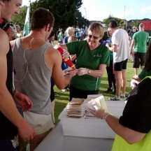 The sausage sizzle is a post-run highlight.