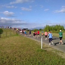 """One of two similar """"hills"""" on the course - about 1.5m climb to get over the river bank."""