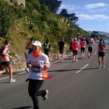 Past the halfway point - me at full speed.
