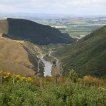 A unique view on the Manawatu Gorge.