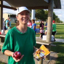 Everybody received an apple at the finish and me with a spotprize!