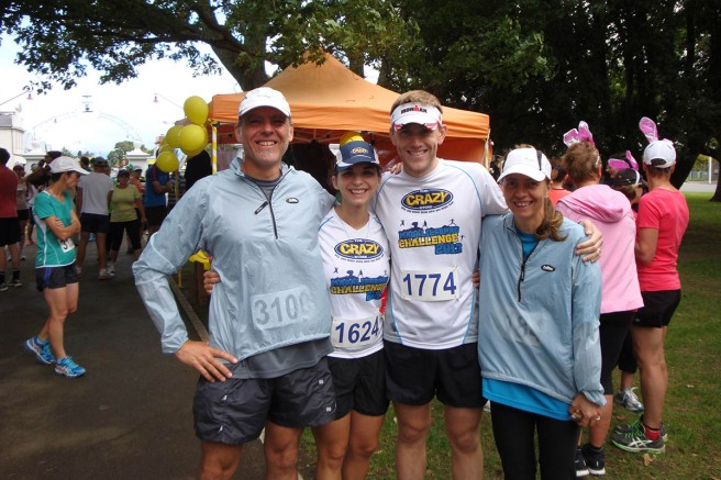 At the start: Gerry, Nettie, Johann and me.