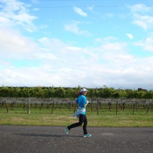 Me flying past the vines.