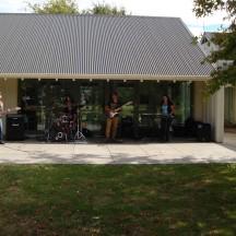 Full band providing great entertainment.