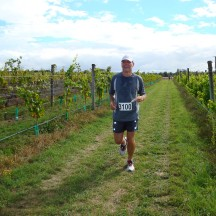 Gerry on the extra loop for the half marathon.