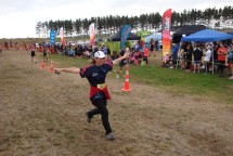 Flying to the finishing line.