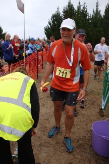 Gerry just as he got his medal.