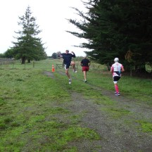 Another short out and back section and Gerry still strong enough for a jiggle.
