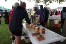 Free refreshments at the finish.