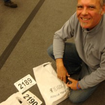 All sorted. Race numbers with timing chips, Ts and goodie bags.