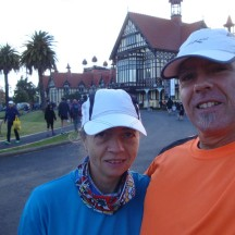 Even more nervous excitement shortly before the start on Saturday morning.