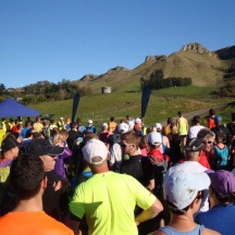Race briefing on a lovely sunny day in Hawke's Bay.