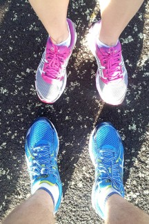 "Brand spanking new shoes for Nettie and Johann. Don't think it is necessary to ""run in"" trainers these days anymore. [Photo © Johann van der Merwe]"