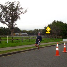 Gerry at the turn of the first out-and-back section.