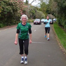 Margaret doing great in the walkers event.