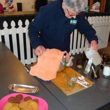 Warm coffee, tea, hot chocolate and biscuits in the clubhouse. What a way to end a wonderful event.