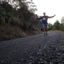 Gerry flying down the gravel road.