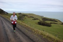 Running back towards Raglan on the ocean side of the mountain.