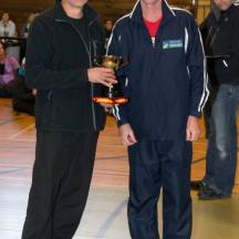 Gerry also winning the male Handicap Cup. [Photo courtesy of Rob Weir, Manawatu Striders]