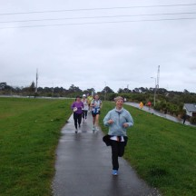 From about the 5km mark we ran on the pathway next to the Hutt River.