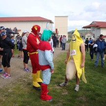 """Some super heroes also took part. I was trying to catch the """"well endowed"""" banana, but he stayed a few hundred metres in front of us."""